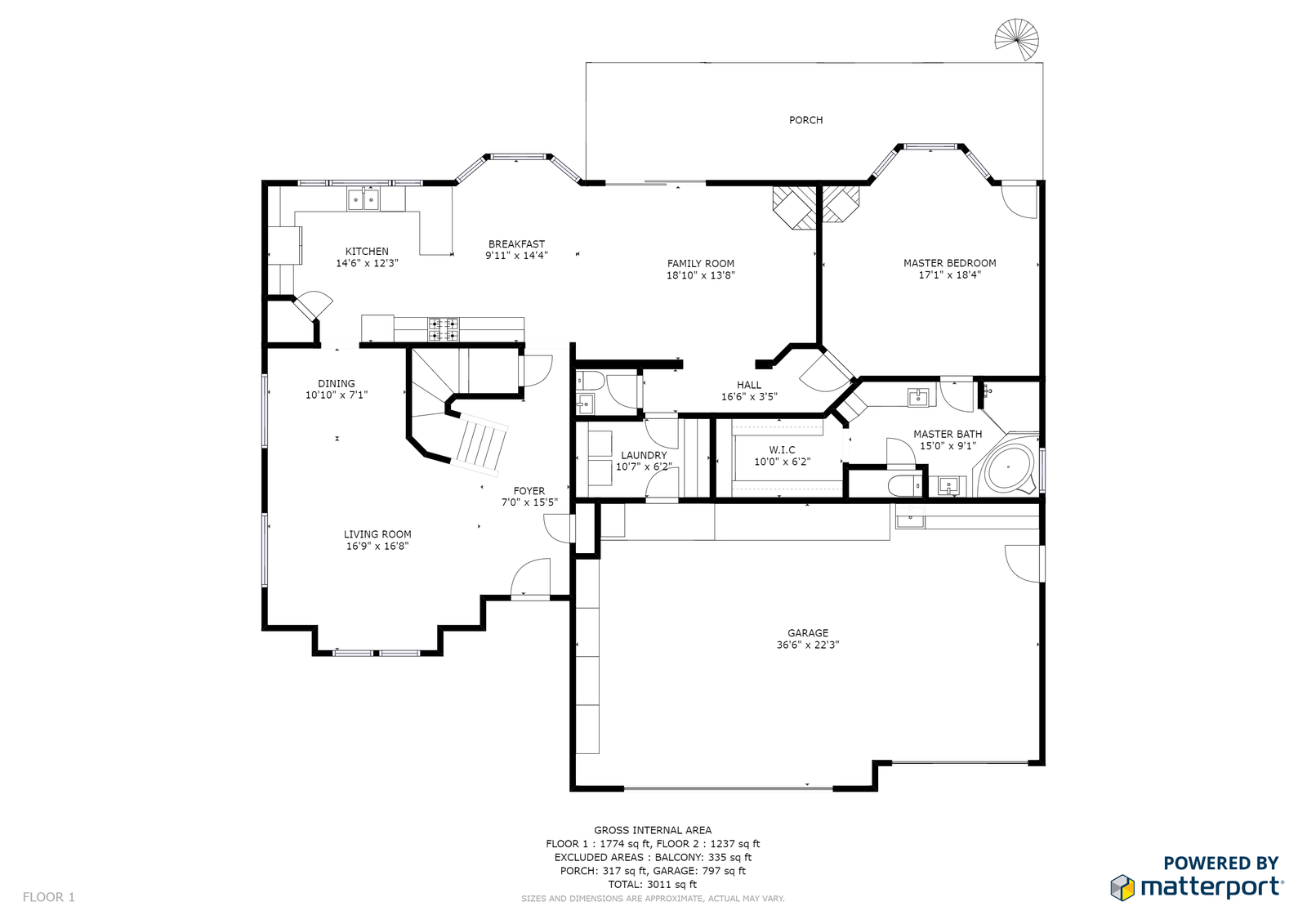 Matterport detialed floor plans used in in Phoenix and Scottsdale